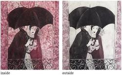 見る人の想像力を喚起する内と外の物語!松本里美銅版画展「CURTAIN カーテン/ inside & outside stories」