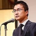 4月に開いた誕生パーティー(乙武洋匡を囲む会)でスピーチする乙武さん