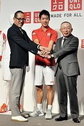 ユニクロが錦織圭選手のテニスウェア商品化 12型4月発売