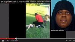 暴行事件の指名手配犯ラティア・ハリス(画像はYouTubeのスクリーンショットおよびセイラム署が公開した写真)