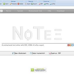 イマドキのIDE事情 (139) ブラウザ上で動作するreStructredTextエディタ「NoTex」