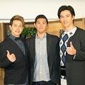 15年ぶりに集合した(左から)友井雄亮、賀集利樹、要潤