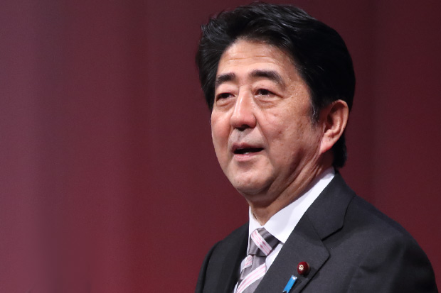[画像] 安倍晋三首相の自虐的なギャグに辛坊治郎氏がツッコミを入れる