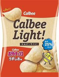 油分が25%カットされた、新感覚のスナック菓子「カルビーライト!ポテトチップスうすしお味」(オープン価格)