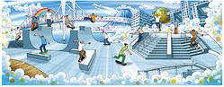 野外スケートパークがお台場ダイバーシティに 4月開業