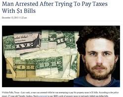 1ドル札600枚で職員を激怒させた男、罰金刑に(画像はcountercurrentnews.comのスクリーンショット)