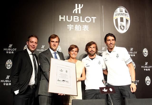 ウブロがイタリアの強豪サッカークラブ、ユヴェントスと パートナーシップを締結!