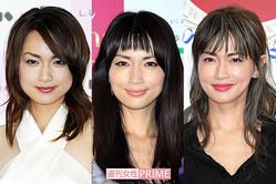 写真左から2003年当時(25歳)、2010年当時(32歳)、2017年(38歳)の長谷川京子