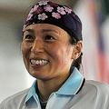 敗退を喫したが笑顔の松井千夏 (photo by Koji YAMAZAKI/PHOTO KISHIMOTO)  [2009年7月21日 Chung Cheng Martial Arts Stadium /高雄市/台湾]