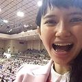 「九州で行なわれた11月場所も観戦しました! 間近で見ると力士たちの肌の色つやまで確認できます」と語る市川紗椰