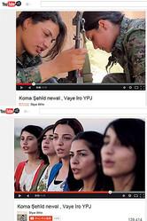 YouTubeには(あからさまに勧誘をうたってはいないが)多くのYPJ美女たちの動画がアップされている。例えば、この動画も民族衣装を着て歌う女たちと戦闘服を着た女たちが交互に登場する優れた演出だ