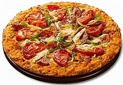 「たっぷりミートのカラムーチョピザ」