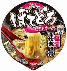 太麺に「どろ系」スープ