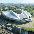 建設費が高騰、批判が相次ぐ新国立競技場   写真提供:日本スポーツ振興センター