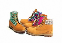 古着を利用したティンバーランドのブーツ 元コレットディレクターとコラボし限定発売