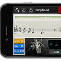 思いついた2小節のメロディーをもとに、一曲まるごと自動作曲してくれるiPhone用アプリ『Chordana Composer』のマイク入力画面(カシオ計算機の発表資料より)