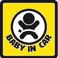 グーグルで「赤ちゃんが乗っています」と検索すると……賛否両論!? 「BABY IN CAR」のステッカー