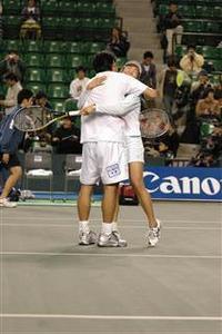 <全日本テニス選手権>最終日ミックスダブルス、トーマス嶋田・中村藍子ペアが優勝!