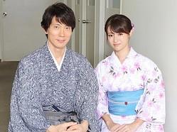 佐々木蔵之介と深田恭子がそれぞれのピンチを語った(写真:高野広美)