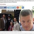 殉職したキース・パーマー巡査、悼む声が続々(出典:http://www.express.co.uk)