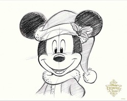 Tdlクリスマス誰でも簡単にサンタ帽ミッキーが描けちゃう