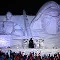 第68回さっぽろ雪まつり 「スター・ウォーズ」の巨大雪像をお披露目