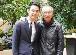 取材中も息の合ったところを見せた妻夫木聡とホウ・シャオシェン監督 - 第68回カンヌ国際映画祭