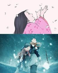 『かぐや姫の物語』(上)『ジョバンニの島』(下)  - (C) 2013 畑事務所・GNDHDDTK (C) JAME