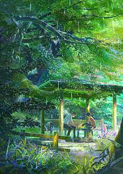 新海誠『言の葉の庭』万葉集の孤悲物語の予告編解禁