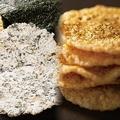 「天ぷらせんべい2種詰合せ」(2805円)には、16枚の天ぷらせんべいと、12枚の江戸前海苔天せんべいが入っている