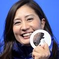今大会初の女性メダリストになった、竹内智香 (撮影:フォート・キシモト)
