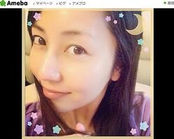 ぴかぴか! - 画像は矢田亜希子オフィシャルブログのスクリーンショット