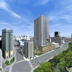 日比谷に大規模複合ビル2017年完成へ 4千平方メートルの広場空間を併設
