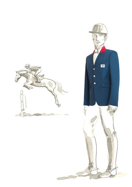 エルメスの乗馬ジャケットがロンドンオリンピックの馬術フランス代表ユニフォームに決定 !
