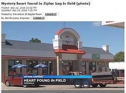 オハイオ州のスーパーマーケット裏にヒトの心臓(出典:http://meredithaz.worldnow.com)