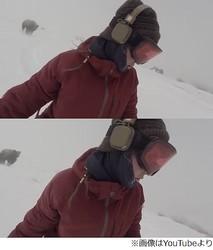 長野で撮られた怖すぎる映像、スノボ女性の自撮りに衝撃的な光景。