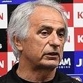 シリアとの親善試合の前日会見で怪我人について言及したハリルホジッチ監督。写真:徳原隆元
