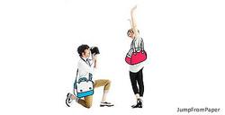 アニメのような2Dバッグ「JumpFromPaper」が渋谷パルコに限定出店
