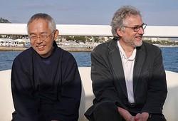 カンヌ公式上映後に取材に応じた鈴木敏夫プロデューサーとマイケル・デュドク・ドゥ・ヴィット監督