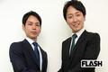 『平慶翔氏(左)と樋口高顕氏』