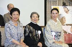 (左から)高円宮妃殿下、樹木希林、河瀬直美監督