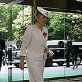 日本赤十字社の行事会場に入られる美智子皇后陛下(2008年撮影)