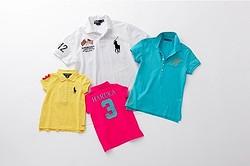 ラルフローレンのポロシャツをカスタム 五輪記念デザインも