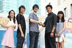 (左から)潘めぐみ、島崎信長、江口拓也、鈴木亮平、永野芽郁