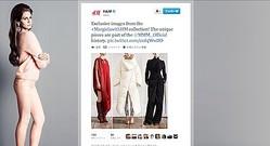 H&M マルジェラコラボの一部ルックをツイッターで発信
