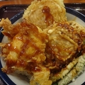 これが噂の「Wハンバーグ天丼〜BBQソース」¥730