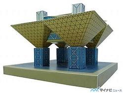 青島文化教材社、ペーパークラフト「東京国際展示場 会議棟」を来年2月発売