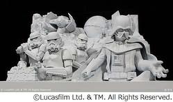 ベイダーも白い雪のSTAR WARS、ディズニー監修の大雪像が札幌に出現。