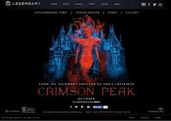 『クリムゾン・ピーク(原題) / Crimson Peak』海外公式サイトのスクリーンショット