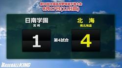 【夏の甲子園】大会11日目・第4試合の結果